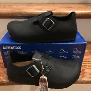 Birkenstock London Black Size 7 Medium new